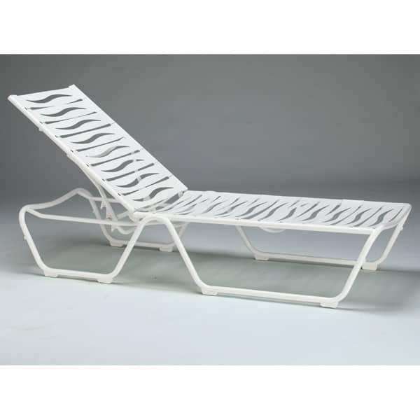 Millennia Wave Strap Chaise Lounge by Tropitone