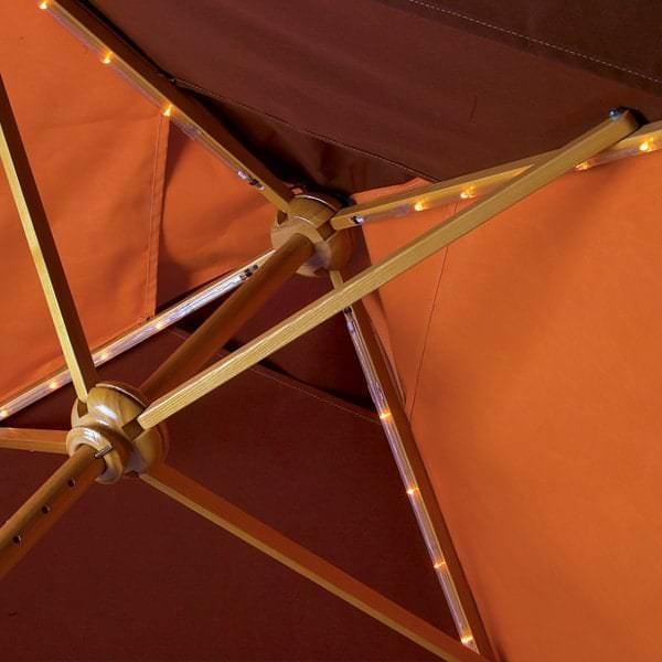 Cafe Basta Sole Wood Umbrella by Tropitone
