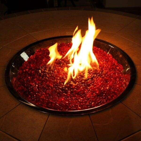 "48"" Granite Top / Stucco Base Custom Fire Pit by Leisure Select"