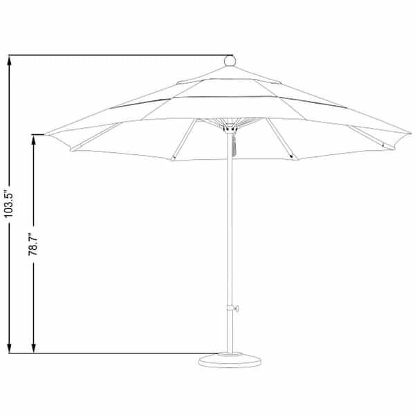 11' Stainless Steel Market Umbrella by Leisure Select