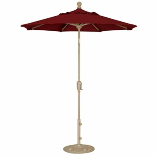 6' Push Button Tilt Aluminum Umbrella by Treasure Garden