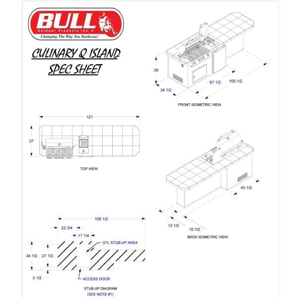 Culinary-Q Grill Island - Stucco by Bull Grills