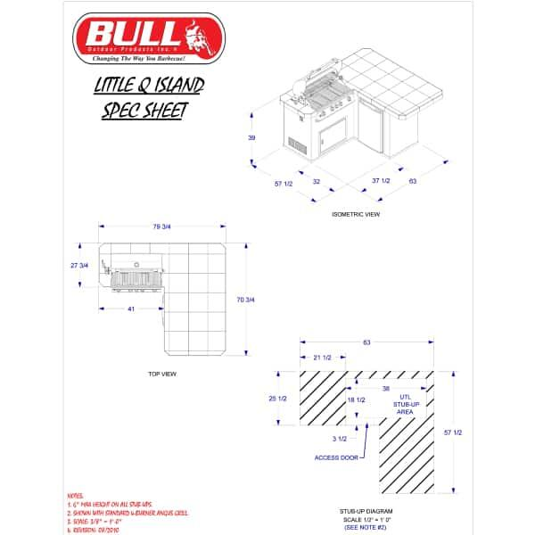 Little-Q Grill Island - Stucco by Bull Grills