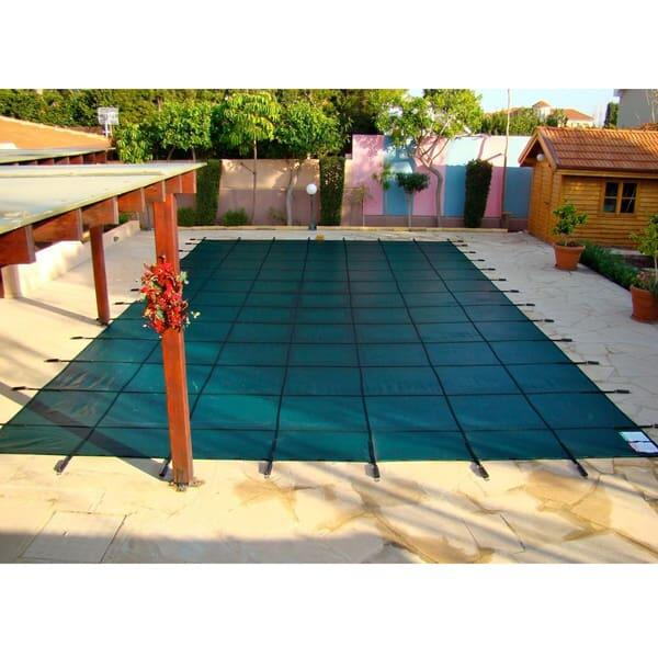 Rectangle Safety Cover - Green Solid by Coverlon