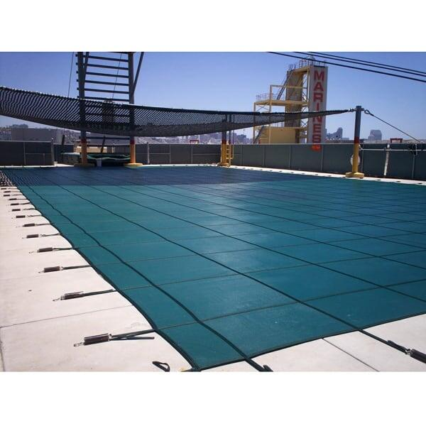 Rectangle with Step Safety Cover - Green Mesh by Coverlon