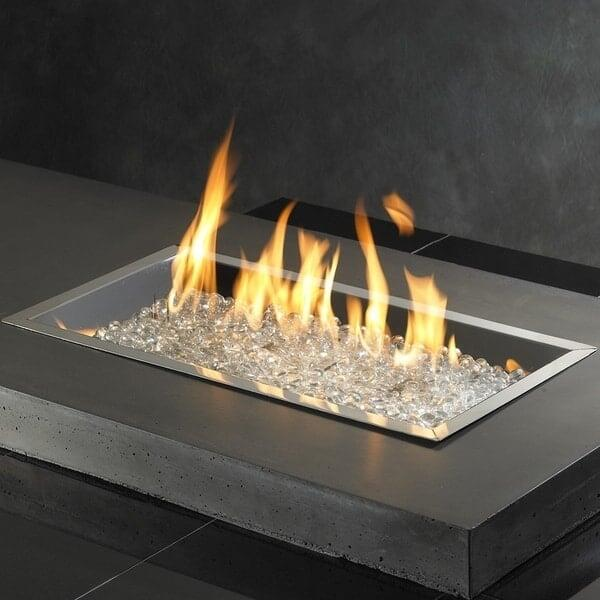 "12"" x 42"" Rectangular Fire Burner by Outdoor GreatRoom"