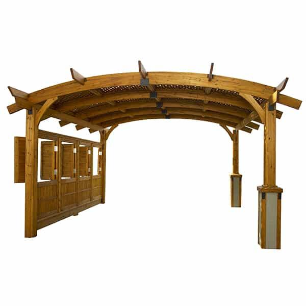 Sonoma 12 Pergola - Redwood by Outdoor GreatRoom