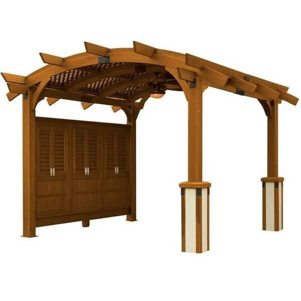 Sonoma 16 Pergola - Redwood by Outdoor GreatRoom