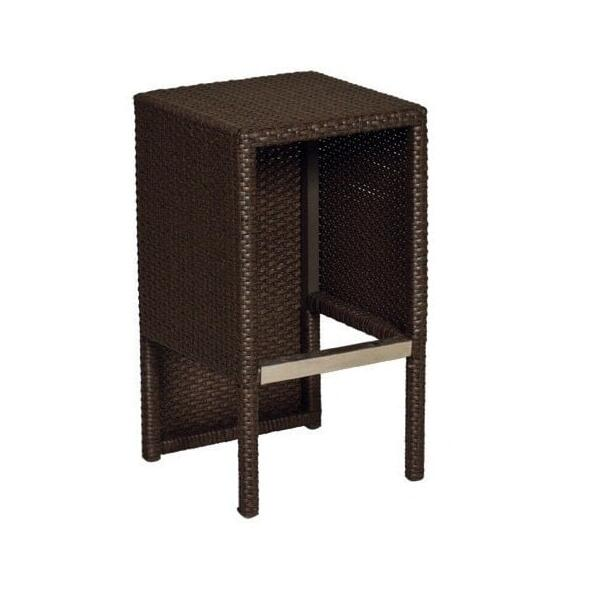 Seaside Bar Height Wicker by Leisure Select