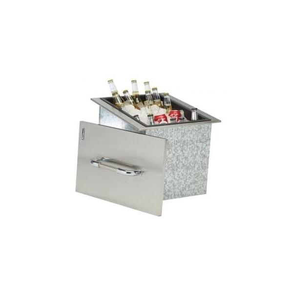 Ice Chest With Cover & Drain by Bull Grills