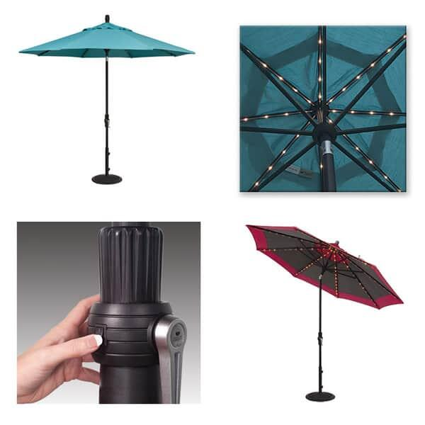 9' Starlight Collar Tilt Umbrella by Treasure Garden