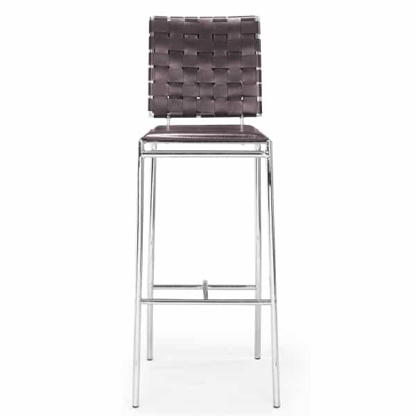 Criss Cross Bar Chairs - Espresso by Zuo Modern