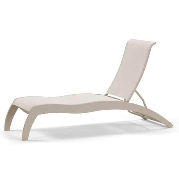 Dune MGP Stacking Armless Chaise with Wheels by Telescope Casual