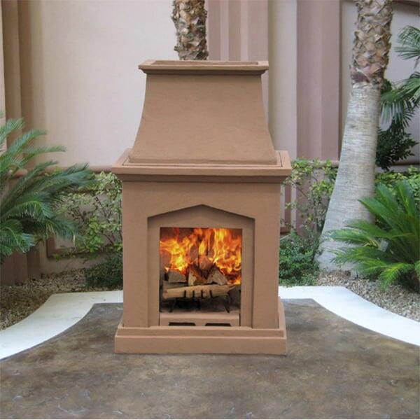 Chino Classic Wood Burning Outdoor Fireplace by Leisure Select