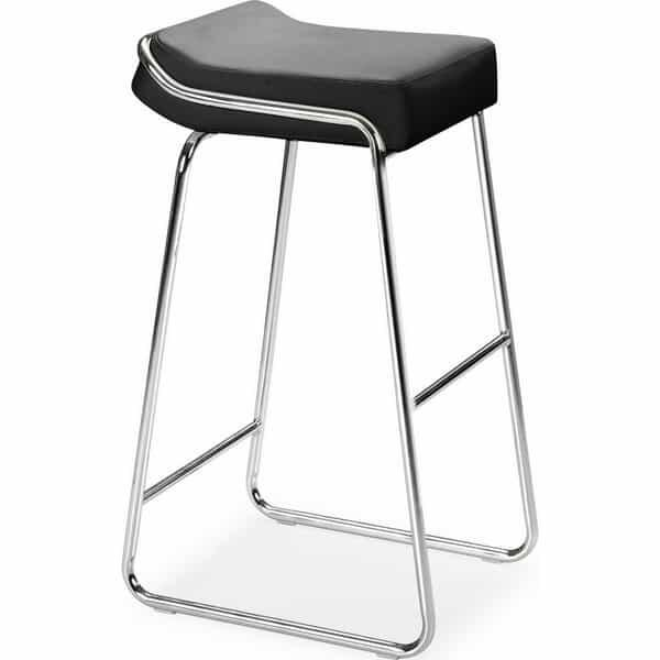 Wedge Bar Stools - Black by Zuo Modern