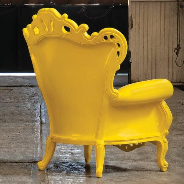 Plastic Luigi Armchair Yellow By Polart Deep Seating