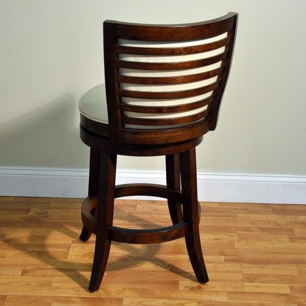 Tall Armless Bar Stool with Upholstery