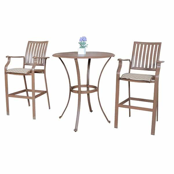 Island Breeze 3-PC Slatted Pub Table Set by Panama Jack
