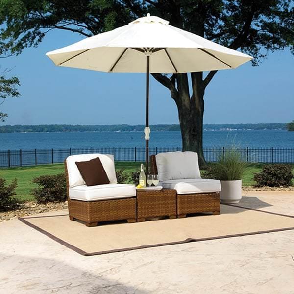 St. Barths 3-PC Armless Set with Cushions by Panama Jack