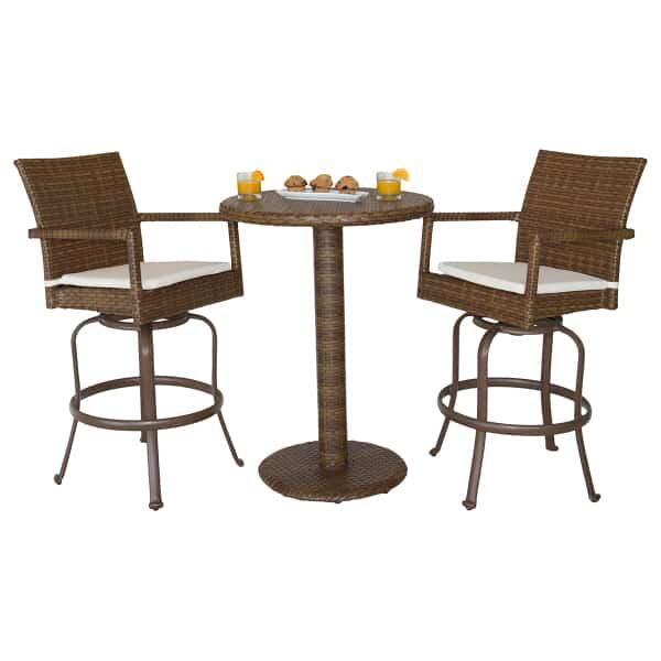 St. Barths 3-PC Swivel Pub Set by Panama Jack