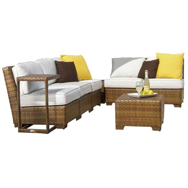 St. Barths 8-PC Corner Modular Sectional with Cushions by Panama Jack