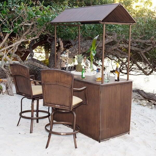 Tiki Bar 3 PC Barstool Set by Panama Jack