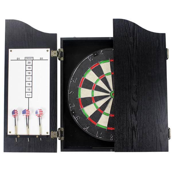Contempo Dartboard Cabinet Set