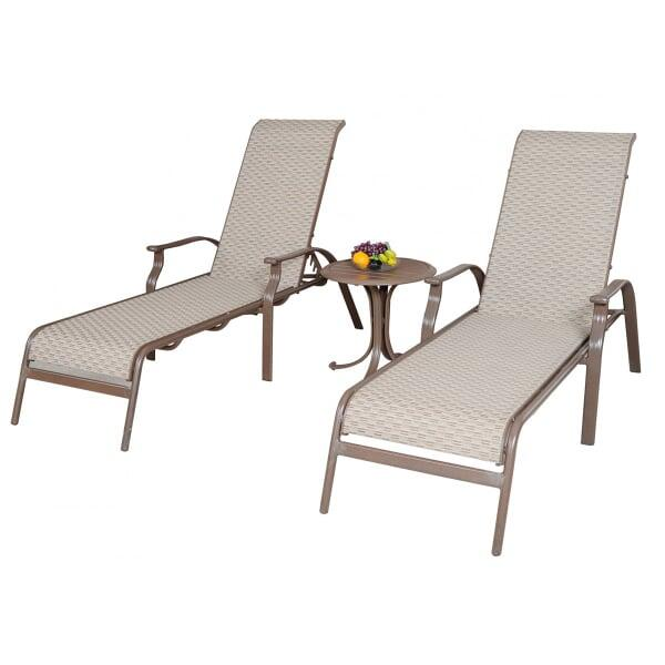 Island Breeze 3-PC Sling Chaise Lounge Set by Panama Jack
