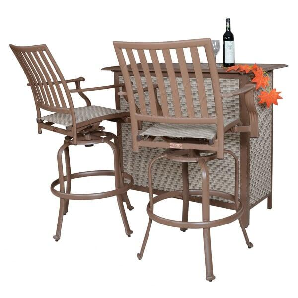 Island Breeze 3-PC Swivel Bar Set by Panama Jack