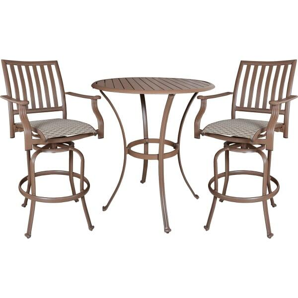 Island Breeze 3-PC Swivel Pub Table Set by Panama Jack