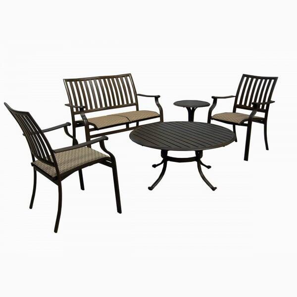 Island Breeze 5-PC Sling Seating Set by Panama Jack