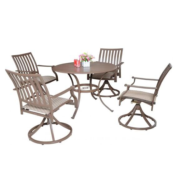 Island Breeze 5-PC Swivel Sling Dining Set by Panama Jack