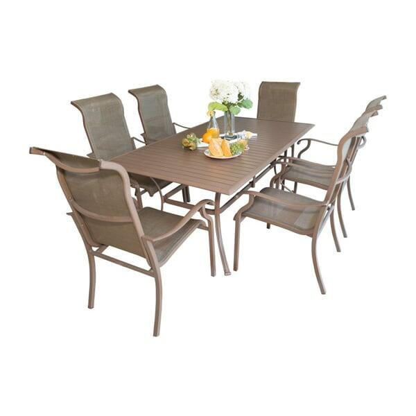 Island Breeze 7-PC Slatted Dining Set by Panama Jack
