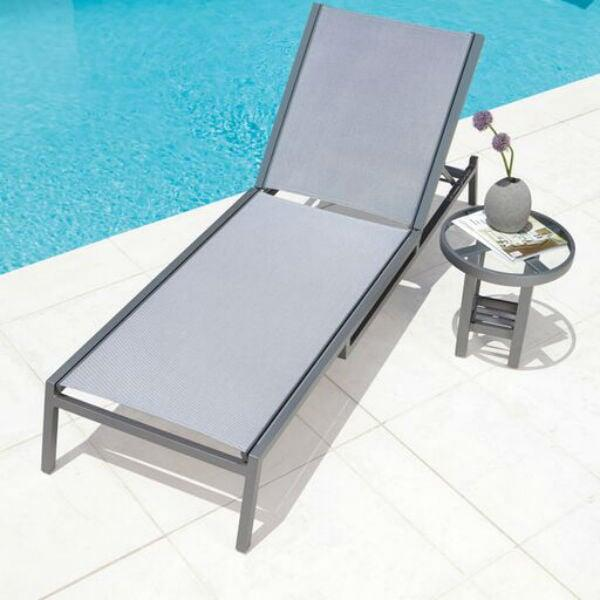 Palm Coast Sling Chaise Lounge by Woodard