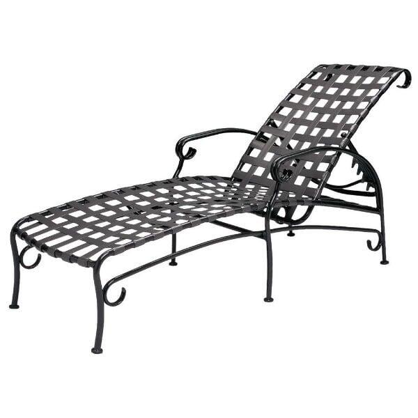 Ramsgate Strap Chaise Lounge by Woodard