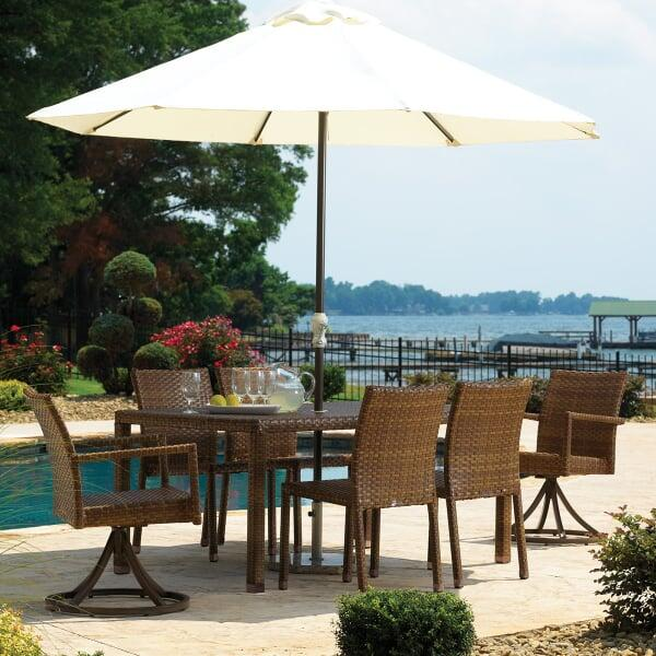 St. Barths 7-PC Swivel Chair Dining Set by Panama Jack