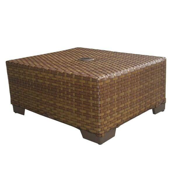 St. Barths Coffee Table with Umbrella Hole by Panama Jack