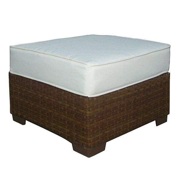 St. Barths Ottoman with Cushion by Panama Jack