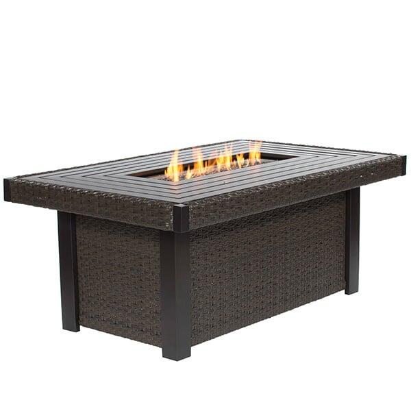 Dover Rectangular Fire Pit Table by Ebel