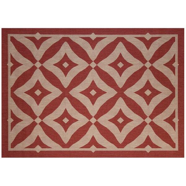 Charleston Outdoor Rug - Henna by Treasure Garden