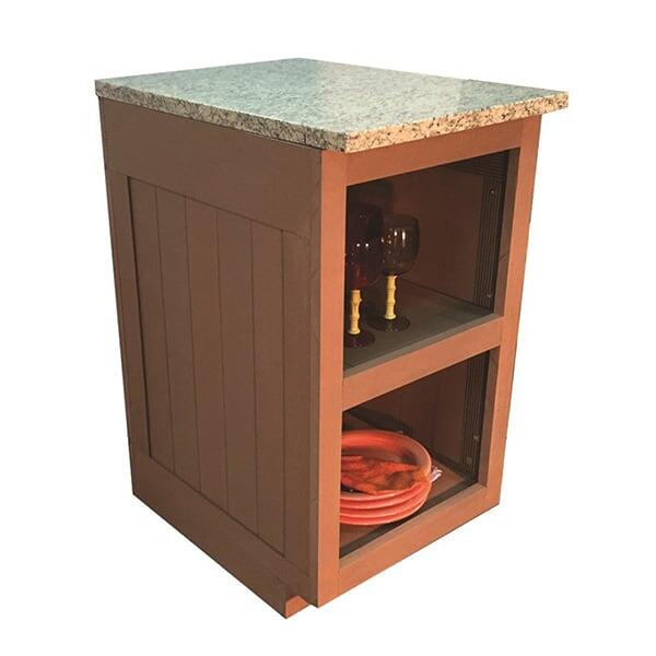 Sequoia Double Shelf Cabinet by Bay Pointe Outdoors