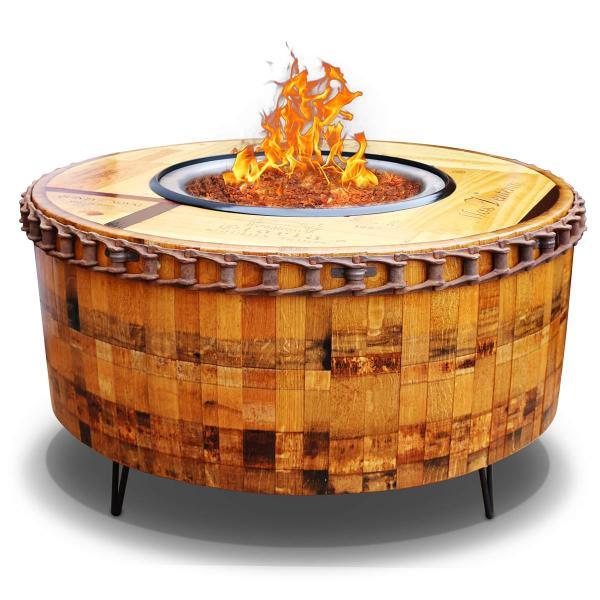 Moderna Wine Barrel Fire Pit Table by Vin de Flame