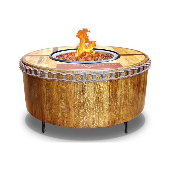 Moderna Wine Barrel Fire Pit Table by Vin de Flame