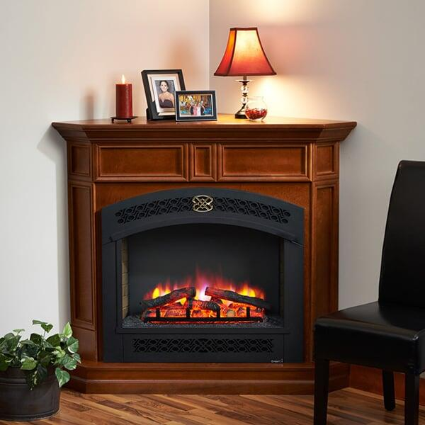 Columbia Corner Cabinet Fireplace by Outdoor GreatRoom