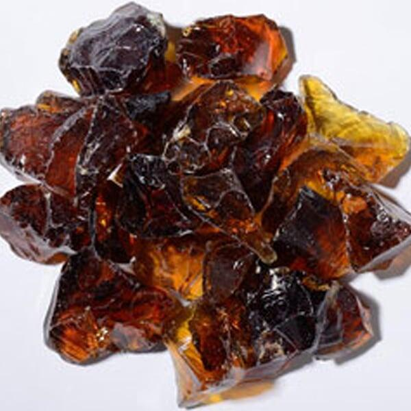 crystal amber fire glass