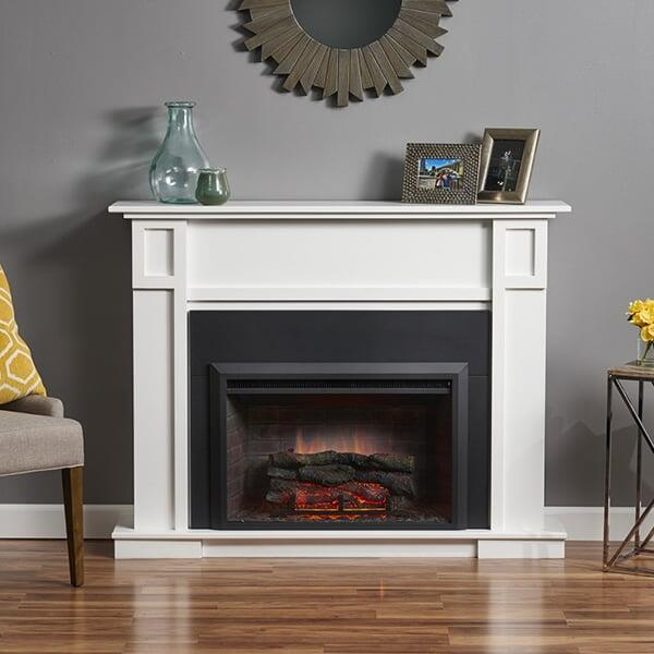 Sarah Check Hearth Cabinet: Heritage Cabinet Fireplace