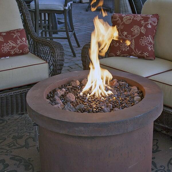 Urban Series Storm Grey Fire Pit - LED by Bay Pointe Outdoors