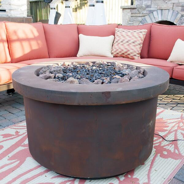 Urban Series Fiery Rust Fire Pit by Bay Pointe Outdoors