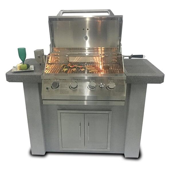 Biscayne Series KD Kitchen 58'' by Bay Pointe Outdoors