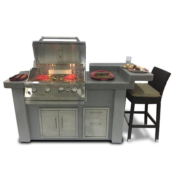 Biscayne Series KD Kitchen 77'' by Bay Pointe Outdoors